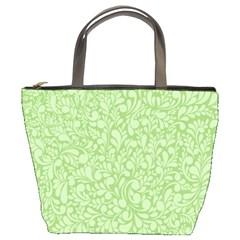 Green pattern Bucket Bags