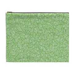 Green pattern Cosmetic Bag (XL)