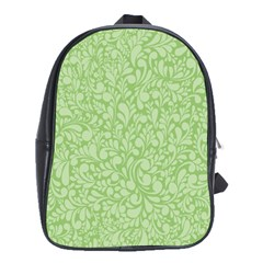 Green pattern School Bags(Large)