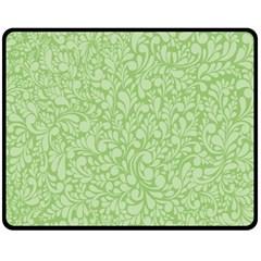 Green pattern Fleece Blanket (Medium)