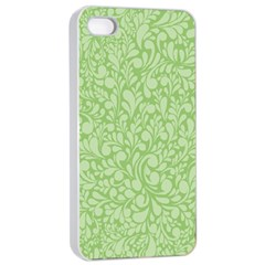 Green pattern Apple iPhone 4/4s Seamless Case (White)