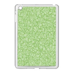 Green pattern Apple iPad Mini Case (White)