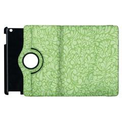 Green pattern Apple iPad 3/4 Flip 360 Case