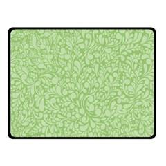 Green pattern Double Sided Fleece Blanket (Small)