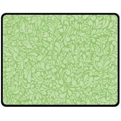 Green pattern Double Sided Fleece Blanket (Medium)