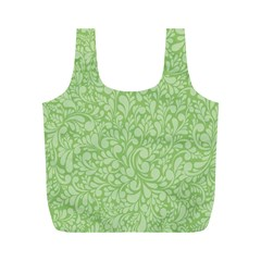 Green pattern Full Print Recycle Bags (M)