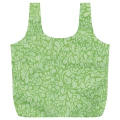 Green pattern Full Print Recycle Bags (L)