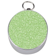 Green pattern Silver Compasses