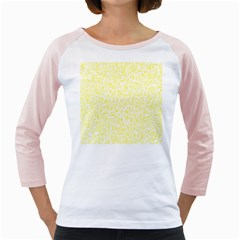 Yellow pattern Girly Raglans