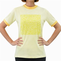 Yellow pattern Women s Fitted Ringer T-Shirts