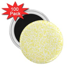 Yellow pattern 2.25  Magnets (100 pack)