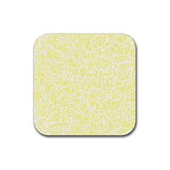Yellow pattern Rubber Square Coaster (4 pack)