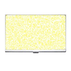 Yellow pattern Business Card Holders