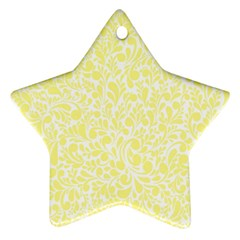 Yellow pattern Star Ornament (Two Sides)