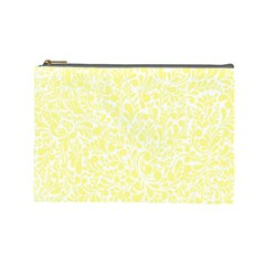Yellow pattern Cosmetic Bag (Large)