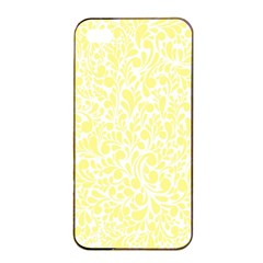 Yellow pattern Apple iPhone 4/4s Seamless Case (Black)