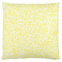 Yellow pattern Large Cushion Case (One Side)