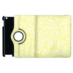 Yellow pattern Apple iPad 2 Flip 360 Case
