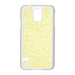 Yellow pattern Samsung Galaxy S5 Case (White)