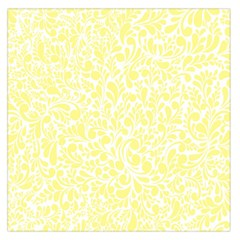 Yellow pattern Large Satin Scarf (Square)