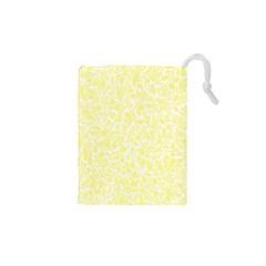 Yellow pattern Drawstring Pouches (XS)