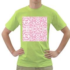 Leopard pink pattern Green T-Shirt