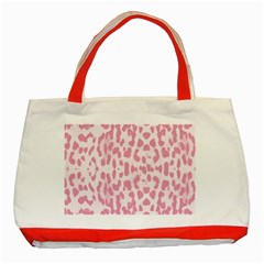 Leopard pink pattern Classic Tote Bag (Red)