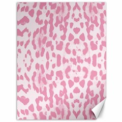 Leopard pink pattern Canvas 36  x 48