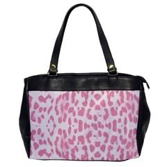 Leopard pink pattern Office Handbags
