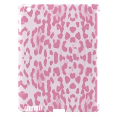 Leopard pink pattern Apple iPad 3/4 Hardshell Case (Compatible with Smart Cover)