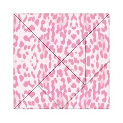Leopard pink pattern Acrylic Tangram Puzzle (6  x 6 )