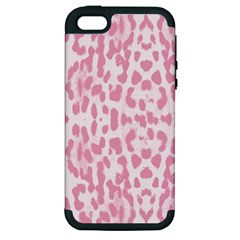 Leopard pink pattern Apple iPhone 5 Hardshell Case (PC+Silicone)