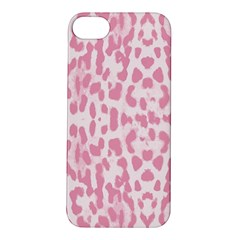 Leopard pink pattern Apple iPhone 5S/ SE Hardshell Case