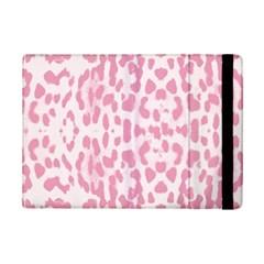 Leopard pink pattern iPad Mini 2 Flip Cases