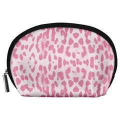 Leopard pink pattern Accessory Pouches (Large)