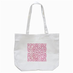 Leopard pink pattern Tote Bag (White)