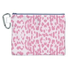 Leopard pink pattern Canvas Cosmetic Bag (XXL)