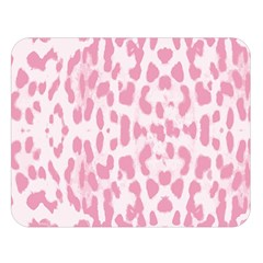 Leopard pink pattern Double Sided Flano Blanket (Large)