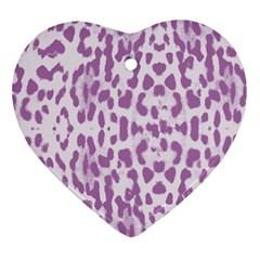Purple leopard pattern Ornament (Heart)