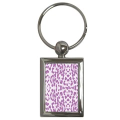 Purple leopard pattern Key Chains (Rectangle)