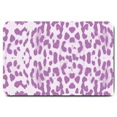 Purple leopard pattern Large Doormat