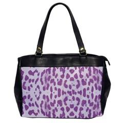 Purple leopard pattern Office Handbags