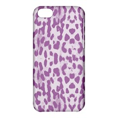 Purple leopard pattern Apple iPhone 5C Hardshell Case