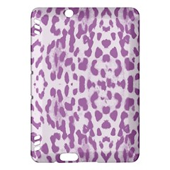 Purple leopard pattern Kindle Fire HDX Hardshell Case
