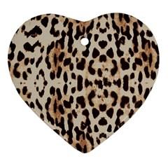 Leopard pattern Ornament (Heart)