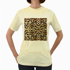 Leopard pattern Women s Yellow T-Shirt