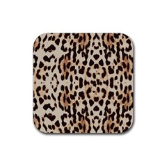 Leopard pattern Rubber Square Coaster (4 pack)