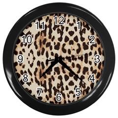 Leopard pattern Wall Clocks (Black)