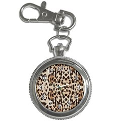 Leopard pattern Key Chain Watches