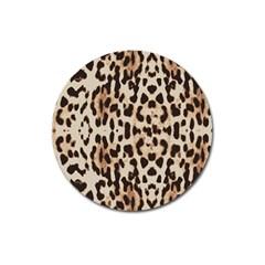 Leopard pattern Magnet 3  (Round)